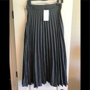 Zara Black/ White polka dot skirt